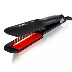 Infrared Steam Salon Hair Straightener - 2 Inches Steam Styler Ceramic Vapor Heater Hair Straightening Fat Iron