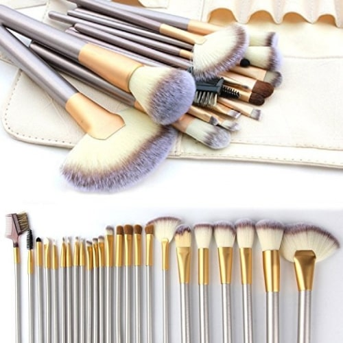 Make up Brushes, 24pcs Premium Cosmetic Makeup Brush Set for Foundation Blending Blush Concealer Eye Shadow, Cruelty-Free Synthetic Fiber